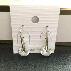 Nickel Free Swarovski Crystal Drop Earrings